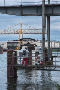 sortie port du Rhin/pris sur le vif