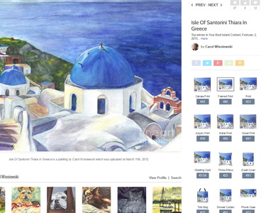 Isle Of Santorini Thiara In Greece Painting by Carol Wisniewski